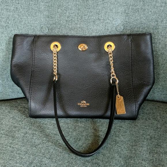 8dcc1c15a5f2 Coach Handbags - Coach Turnlock Chain Tote 27